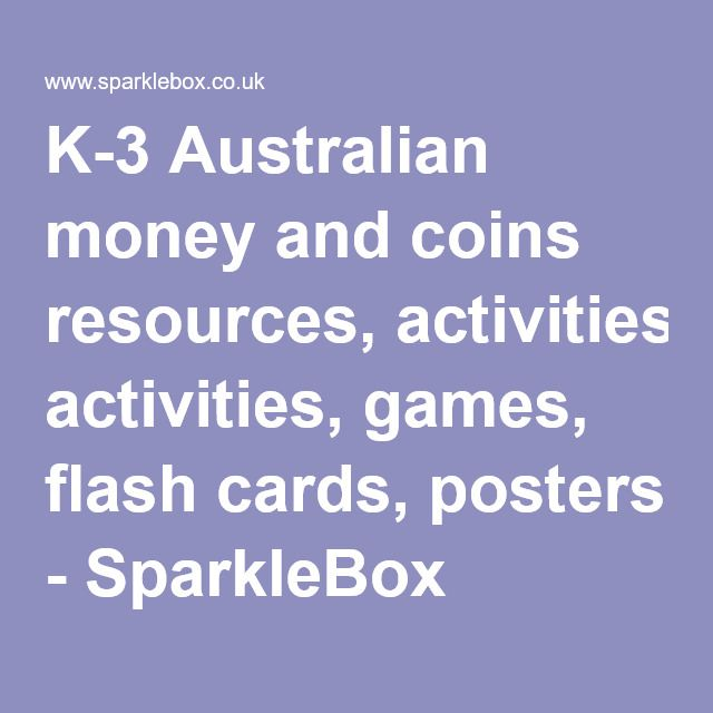 The 25 best sparklebox australia ideas on pinterest boarding australian money and coins resources activities games flash cards posters sparklebox publicscrutiny Choice Image