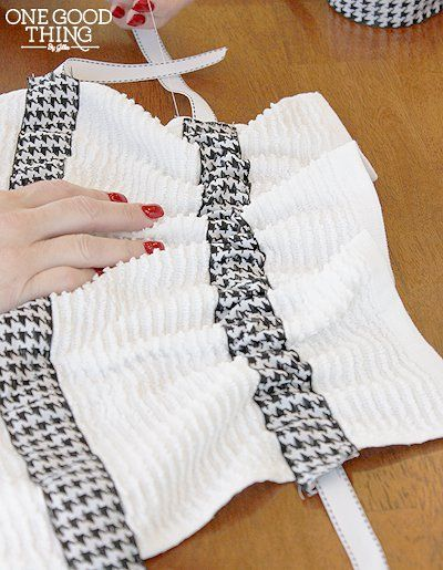How To Make A Simple Hanging Dish Towel - One Good Thing by Jillee