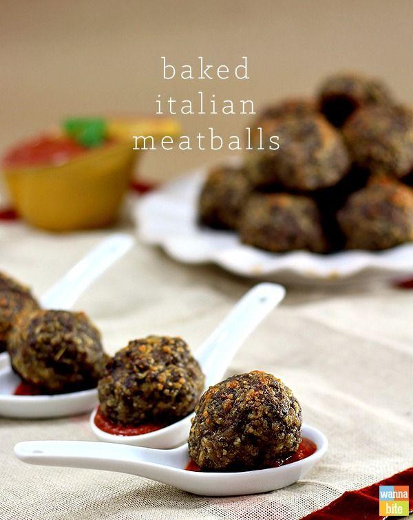 Baked italian meatballs recipe easy canapes canapes for Meatball canape