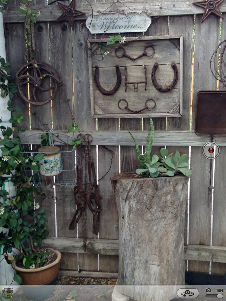 80 best rustic decor images on pinterest for Rustic outdoor decorating