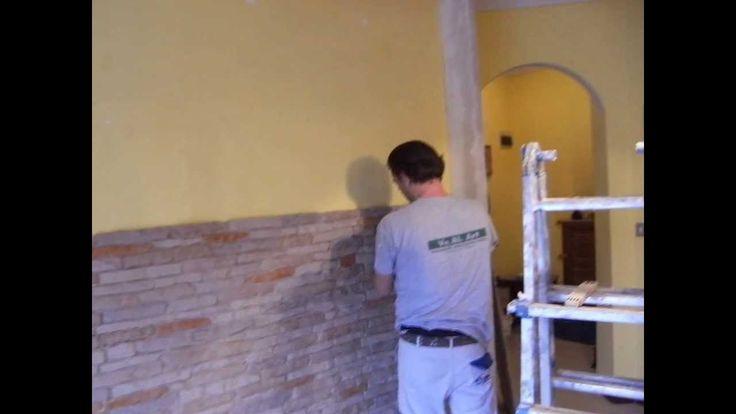imbianchino Ve.Bi.Art  parete con pietra e cartongesso
