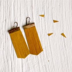 Easy tutorial - make a pair of faux-suede fringe earrings. #craftgawker