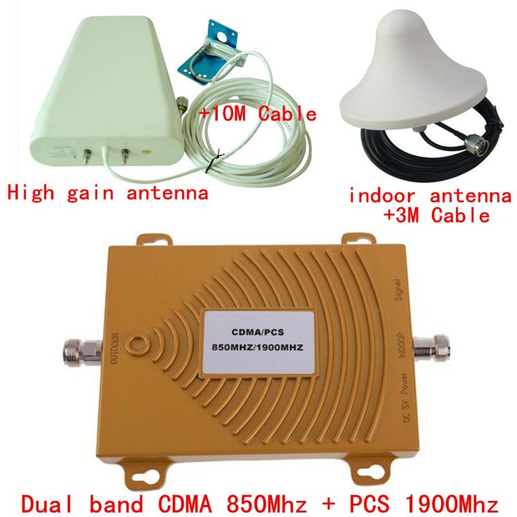 Dual Band Cell Phone Booster CDMA + PCS Dual Band Signal Repeater 850mhz & 1900mhz Signal Amplifier for Home,Office Use #Affiliate