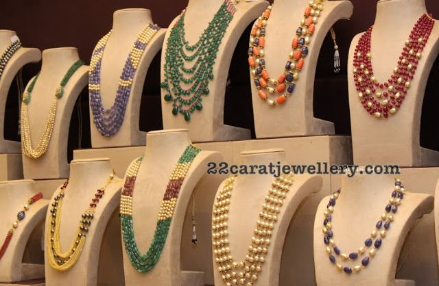 Multi Beads Sets by Musaddilal Jewellers
