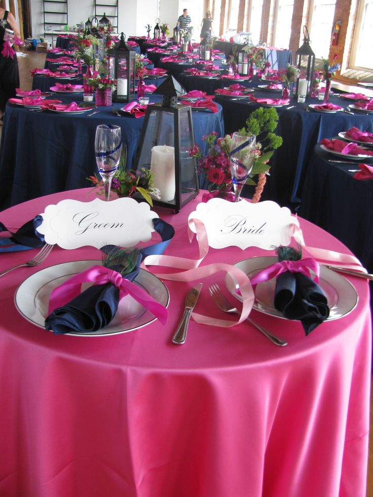 34 best navy blue fuchsia wedding images on pinterest for Navy blue and pink wedding