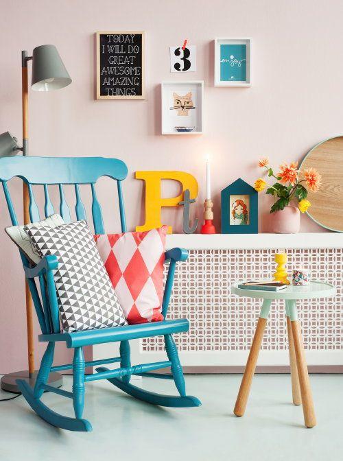 #HomeDecor Trend 2014: Pastels, by Present Time! #PresentTime Home Decoration with Pastel Colors - #PT #Schommelstoel #Rockingchair #Woonaccessoires