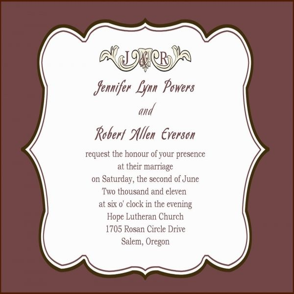 Nice 8 Monetary Wording For Wedding Invitation