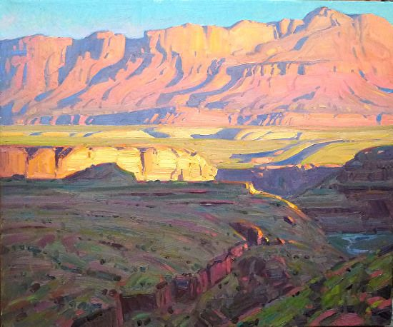 END OF DAY VERMILLION CLIFFS by Robert Goldman Oil on Canvas ~ 20 x 24