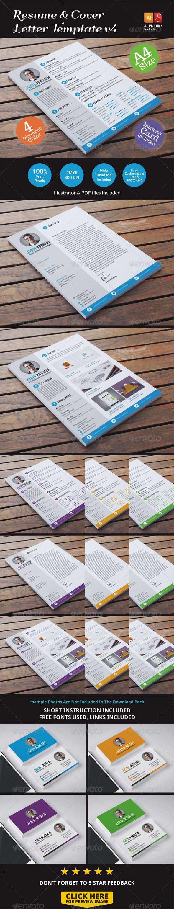 Best 25 resume cover letter template ideas on pinterest resume resume cover letter template v4 madrichimfo Gallery