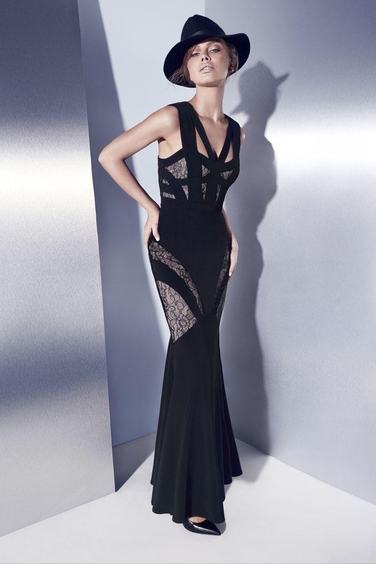 Sheike amazed maxi dress black
