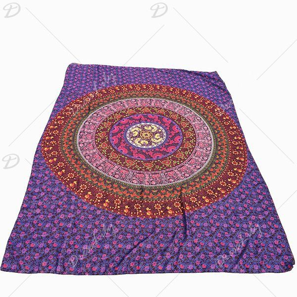 Ethnic Style Red Totem Yoga Mat Gypsy Cotton Tablecloth Round Beach Towel Shawl Wrap Scarf #men, #hats, #watches, #belts, #fashion, #style