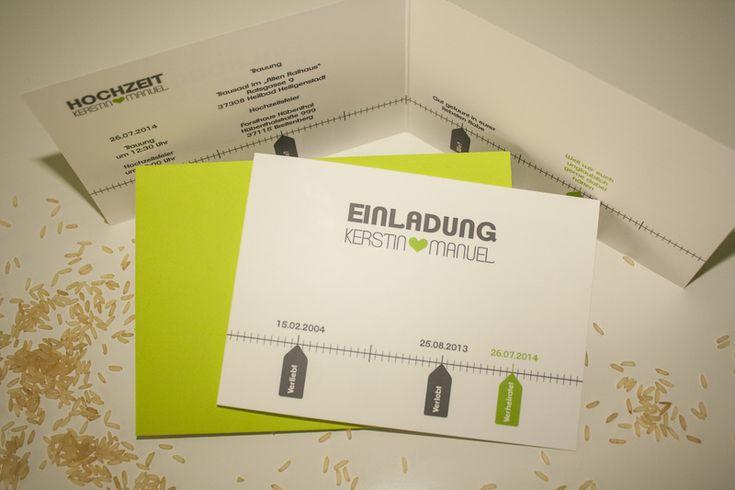 Einladungskarte Hochzeit - Zeitstrahl  Products, Hochzeit and Design
