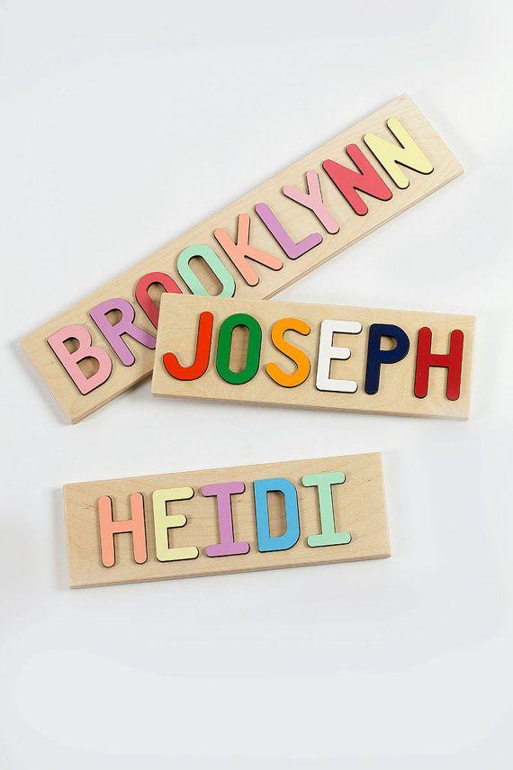 Les enfants personnalisé prénom Puzzle, Puzzle en bois