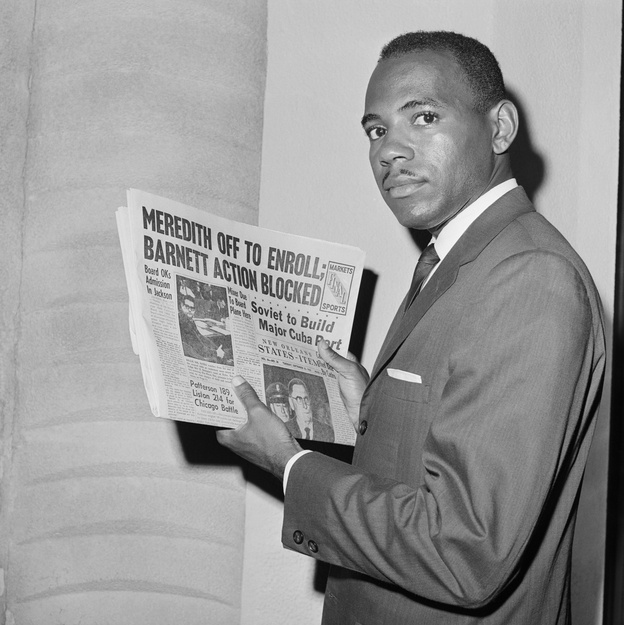 James Meredith, the first African-American student at the University of Mississippi