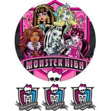 Monster High для круглого торта