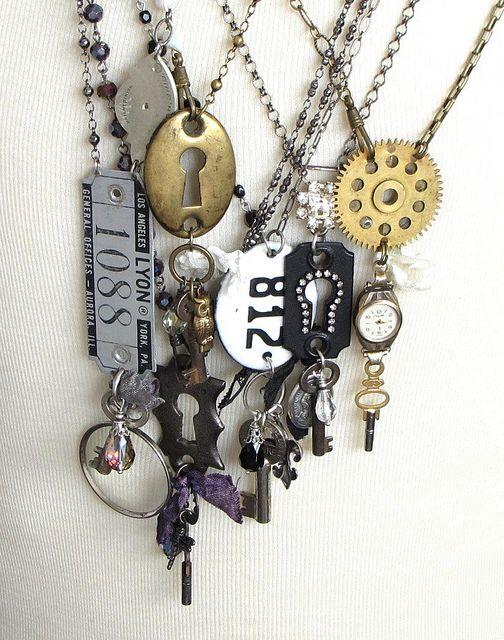 Long Steampunk Necklaces by Mystic Pieces, via Flickr