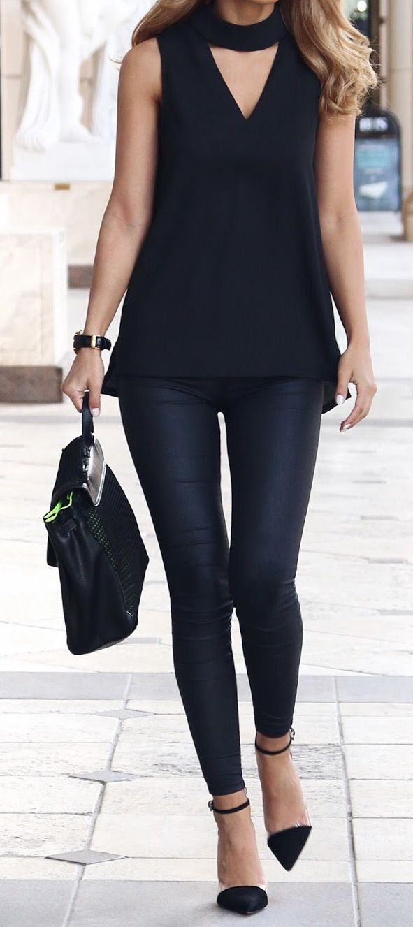 @roressclothes closet ideas #women fashion outfit #clothing style apparel all black