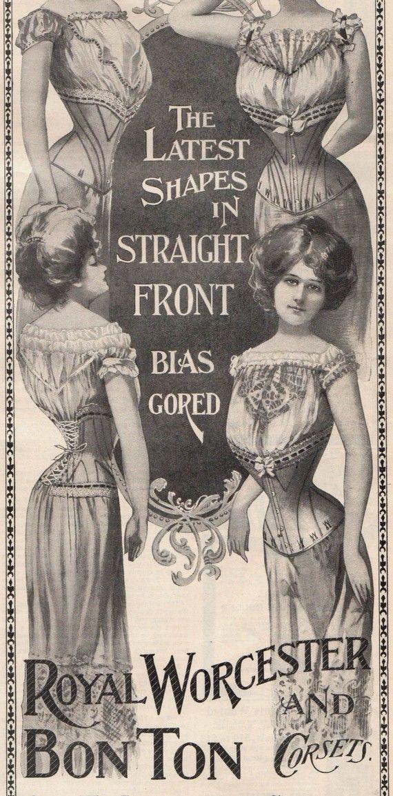 1900 Advertising Corsets Ladies Underwear Victorian Provocative