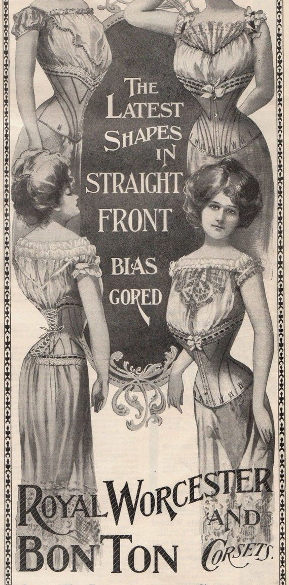 1900 Advertising Corsets Ladies Underwear Victorian Provocative