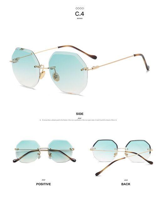 Moda Elegante de Gran Tamaño Sin Montura Gradiente gafas de Sol de Las Mujeres de Lujo Del Diamante de Corte Lente Gran Óptica Gafas Anteojos Femeninos en Gafas de sol de Ropa y Accesorios de las mujeres en AliExpress.com | Alibaba Group