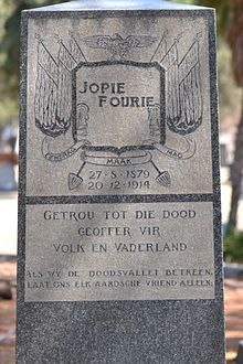 "Josef Johannes ""Jopie"" Fourie Church Street Cemetry"