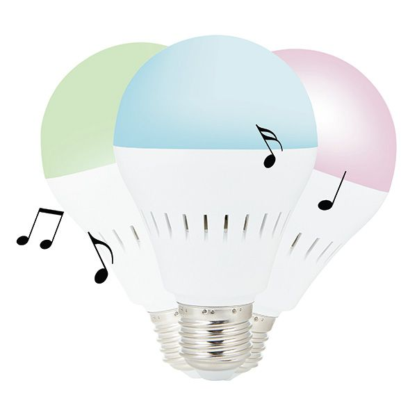 LED bulb with 3W Bluetooth speaker that can be placed in any lamp at home. Play music by connecting your phone to the Bluetooth module in the lamp and listen. Download the free APP to change the color of the lamp to your mood. Compatible with both iOS (iPhone 4S and up) and Android 4.3.