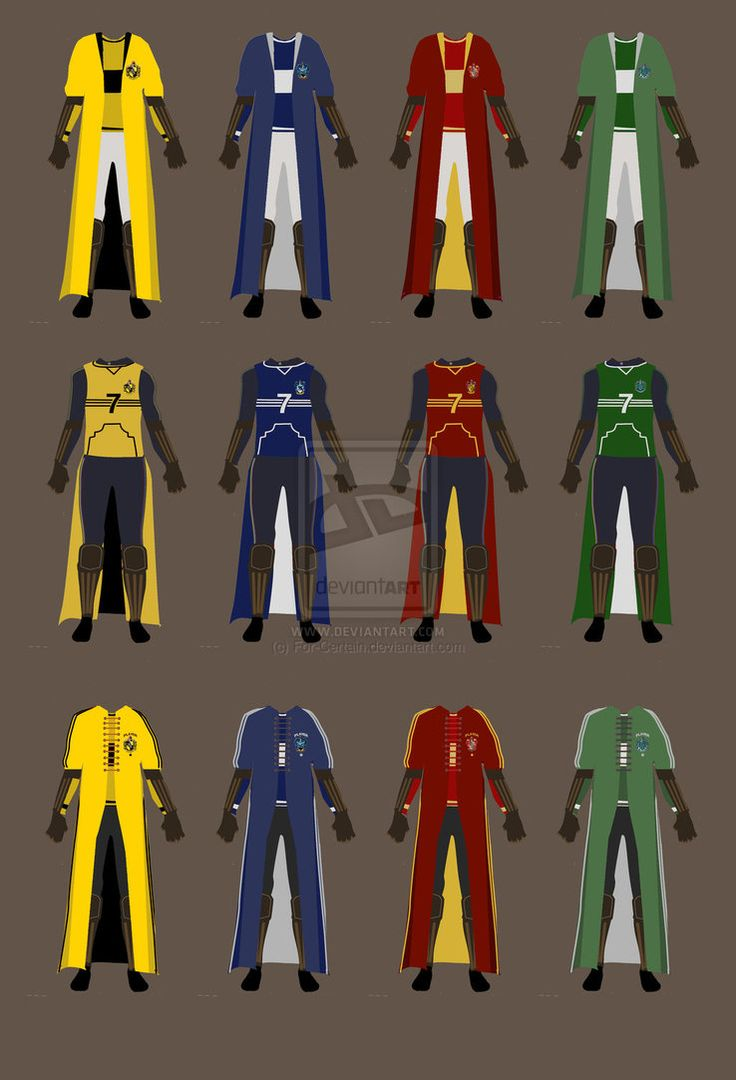 History of the Hogwarts Quidditch Uniform by ~For,Certain on deviantART