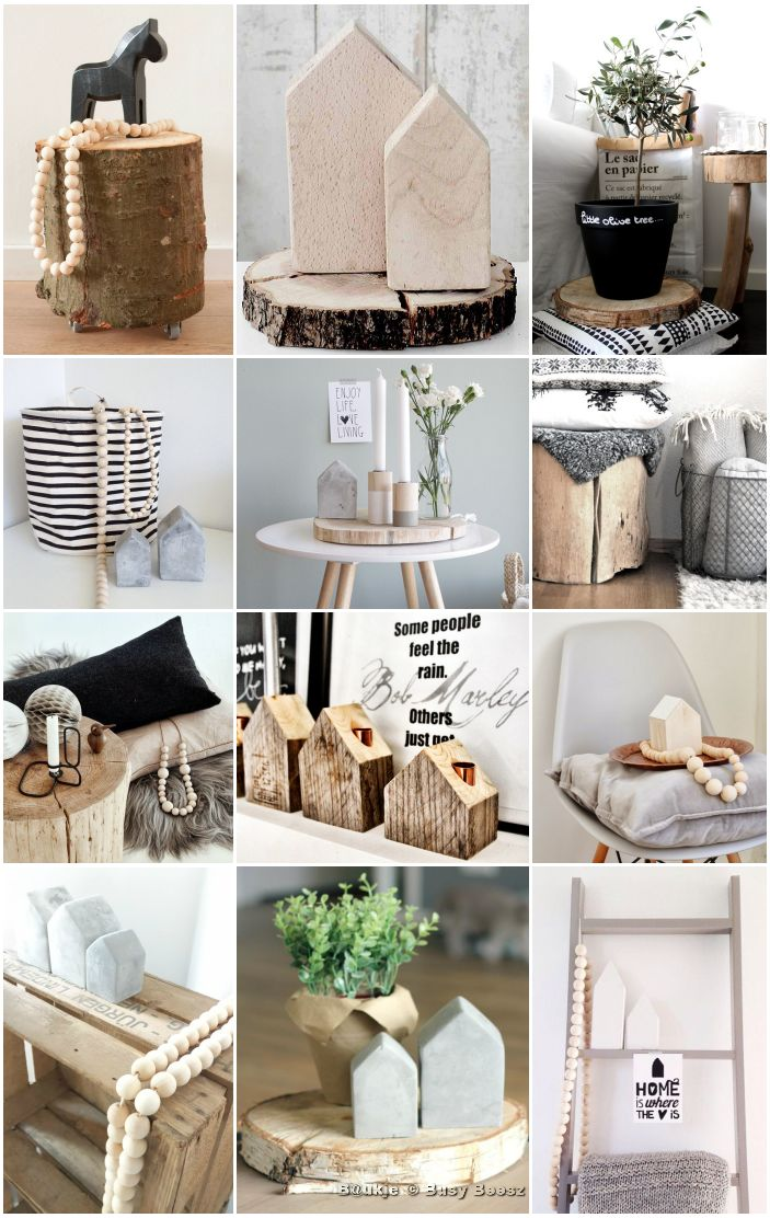 Moodboard hout - naturel