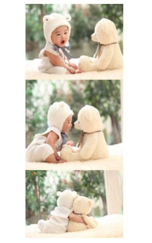 Adorable: Photos Ideas, Cute Baby, Best Friends, Teddy Bears, Photos Shoots, Asian Baby, Baby Pictures, Baby Bears, Baby Photos