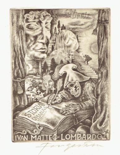 EX-LIBRIS-MICHEL-FINGESTEN-DEATH-WRITES-A-BOOK