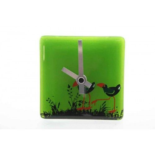 NZ Made Glass Bedside Clock by Cre8ive Glass