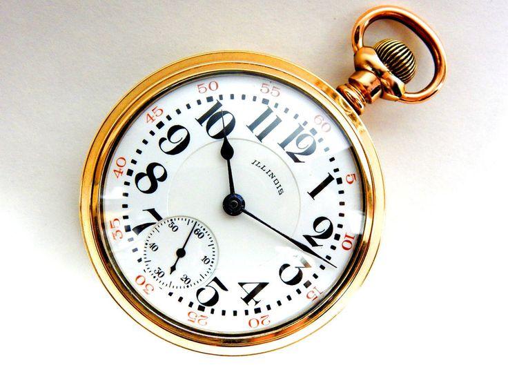 Mega Rare Antique 18s Railroad  Illinois Pennsylvania Special Gold Pocket Watch #PennsylvaniaSpecialIllinois