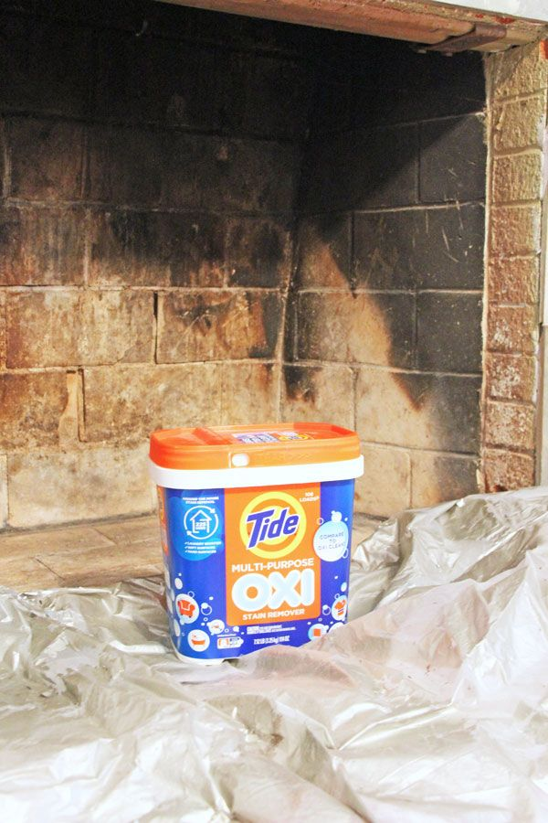 How to Clean and Paint a Fireplace Box | www.rappsodyinrooms.com