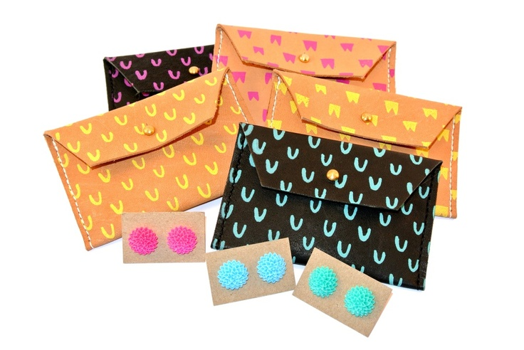 Letters from Letty March 2013 parcel: Georgie Cummings leather coin purse & Pleasure, Little Treasure earrings