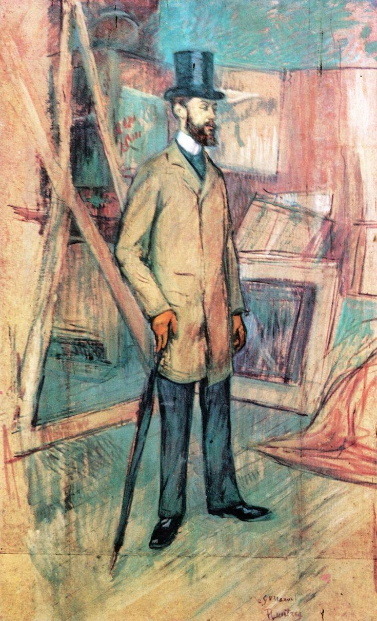 The Athenaeum - Portrait of Georges-Henri Manuel, Standing (Henri de Toulouse-Lautrec - )