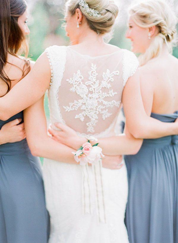 Open Back Wedding Dress for a Romantic Garden Wedding   Jordan Brittley Photography   http://heyweddinglady.com/luminous-spring-garden-wedding-ilac-gray-blush/