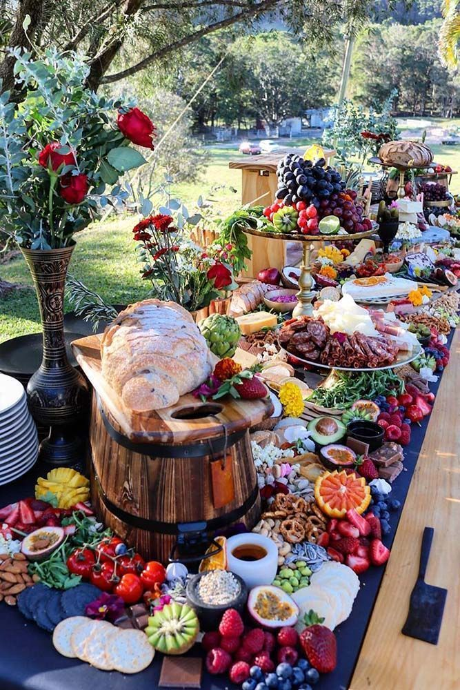 30 Rustic Bbq Wedding Ideas Best For Backyard Wedding Reception Grazing Tables Bbq Wedding Food Displays