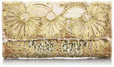 Amazon.co.jp: [ファティマモロッコ] Fatima Morocco ハート刺繍クラッチ: シューズ&バッグ