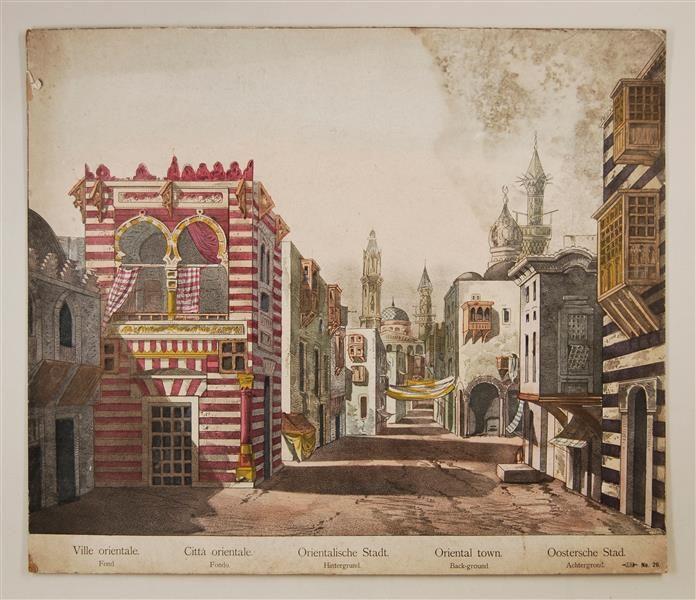 Orientalische Stadt. Hintergrund. No. 26.