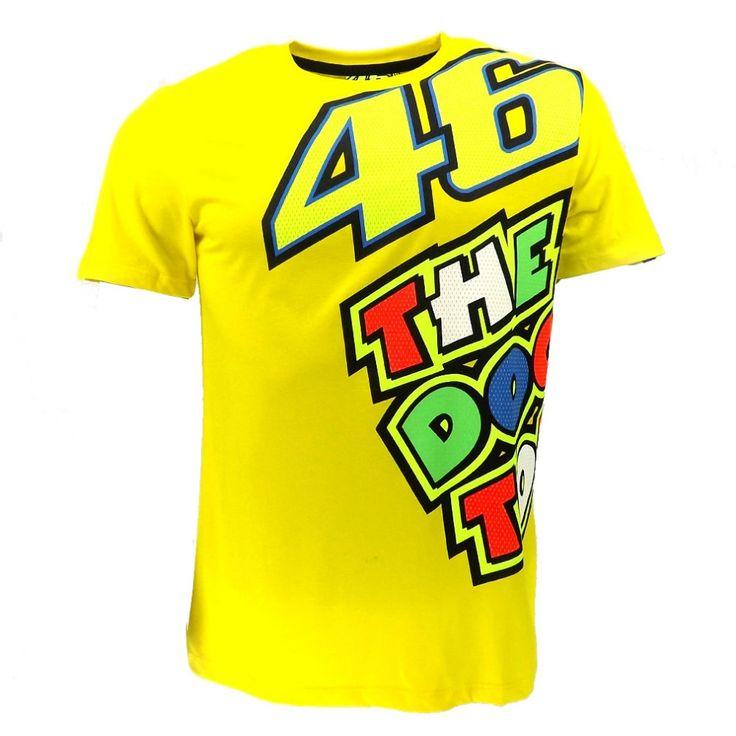 100% Pamuk MotoGP Valentino Rossi VR46 Sarı Doktor T-Shirt VRMTS Jersey Motosiklet Motosiklet Yarış VR46 T-shirt