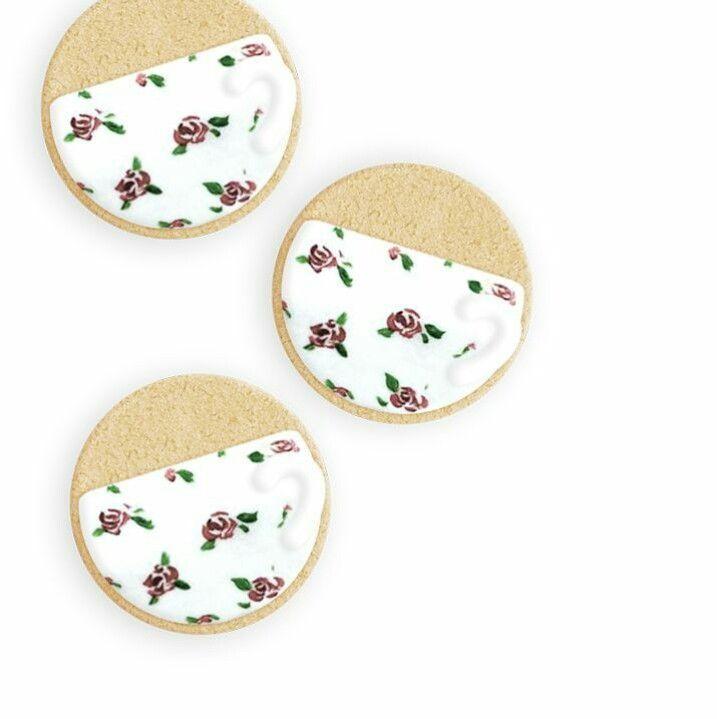 Teacup cookies  Instagram : @qmjft