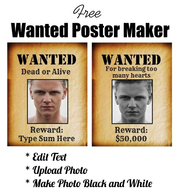Free Printable Wanted Poster Online