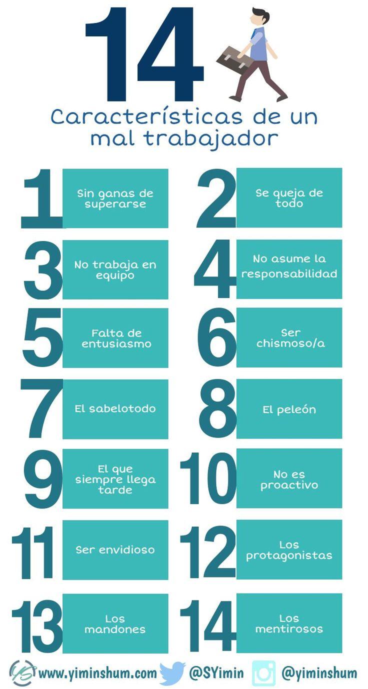 En ocasiones nos puede tocar lidiar con un mal empleado o compañero de trabajo. Estas son las 14 características que definen a un mal trabajador.