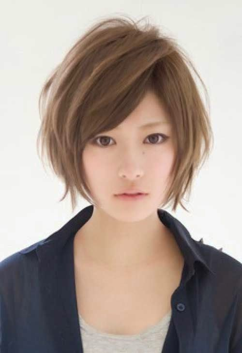 Trendy Endearing Brief Hairstyle Asian Ladies 17be0__Short-Hairsty