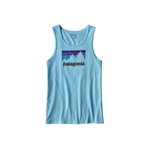 Men's Patagonia Shop Sticker Cotton Tank ($29) ❤ liked on Polyvore featuring men's fashion, men's clothing, men's shirts, men's tank tops, graphic t shirts, patagonia mens shirts, mens sleeveless shirts, mens sleeveless tank tops, mens blue shirt and mens cotton sleeveless t shirts