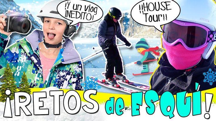 ⛷¡¡RETOS y saltos de ESQUÍ!! ❄ JUEGOS en la NIEVE + HOUSE TOUR Apartamento en ANDORRA 🏠 - YouTube