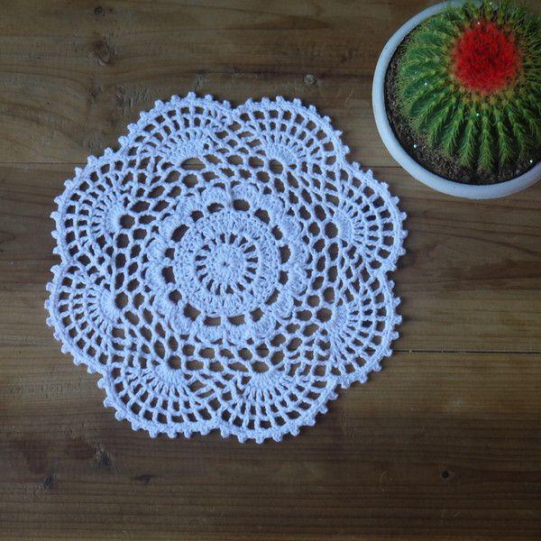 20 Piece Crochet Doilies Coasters Mat Pad 8''/20cm de crochet  sur DaWanda.com