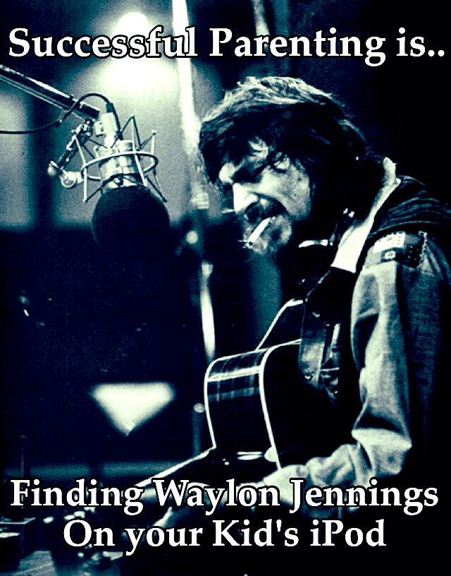 Waylon Jennings Successful Parenting Country music singer