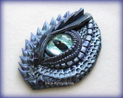 "polymerclayfimo: Флешмоб ""О себе"" - irka_knopkina - Fantastic polymer clay dragon eye!"