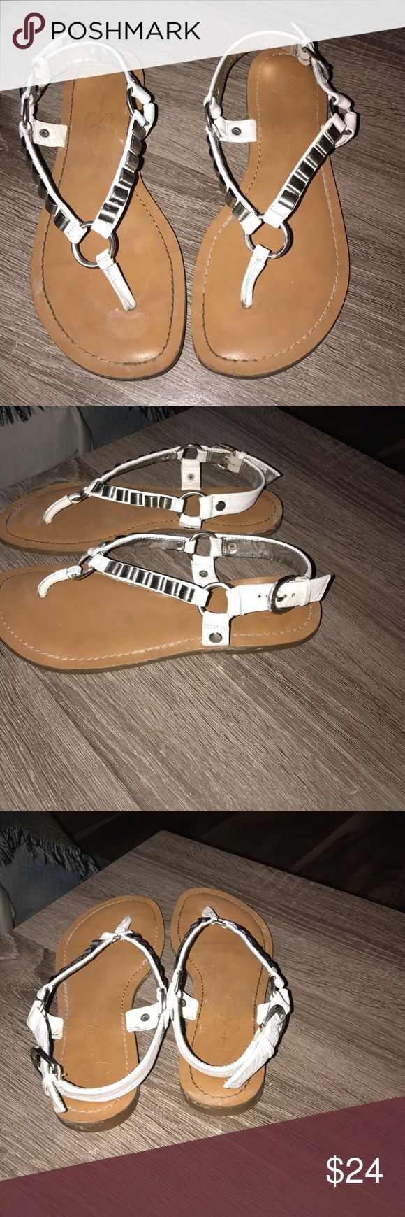 These are a pair of Jessica Simpson sandals These are a pair of used Jessica Simpson sandals super cute and unique 💕size 7 Jessica Simpson Shoes Sandals